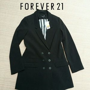 NWT Forever 21 double-breasted Blazer